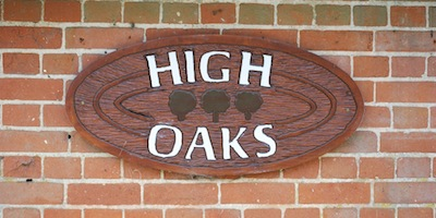 High Oaks sign