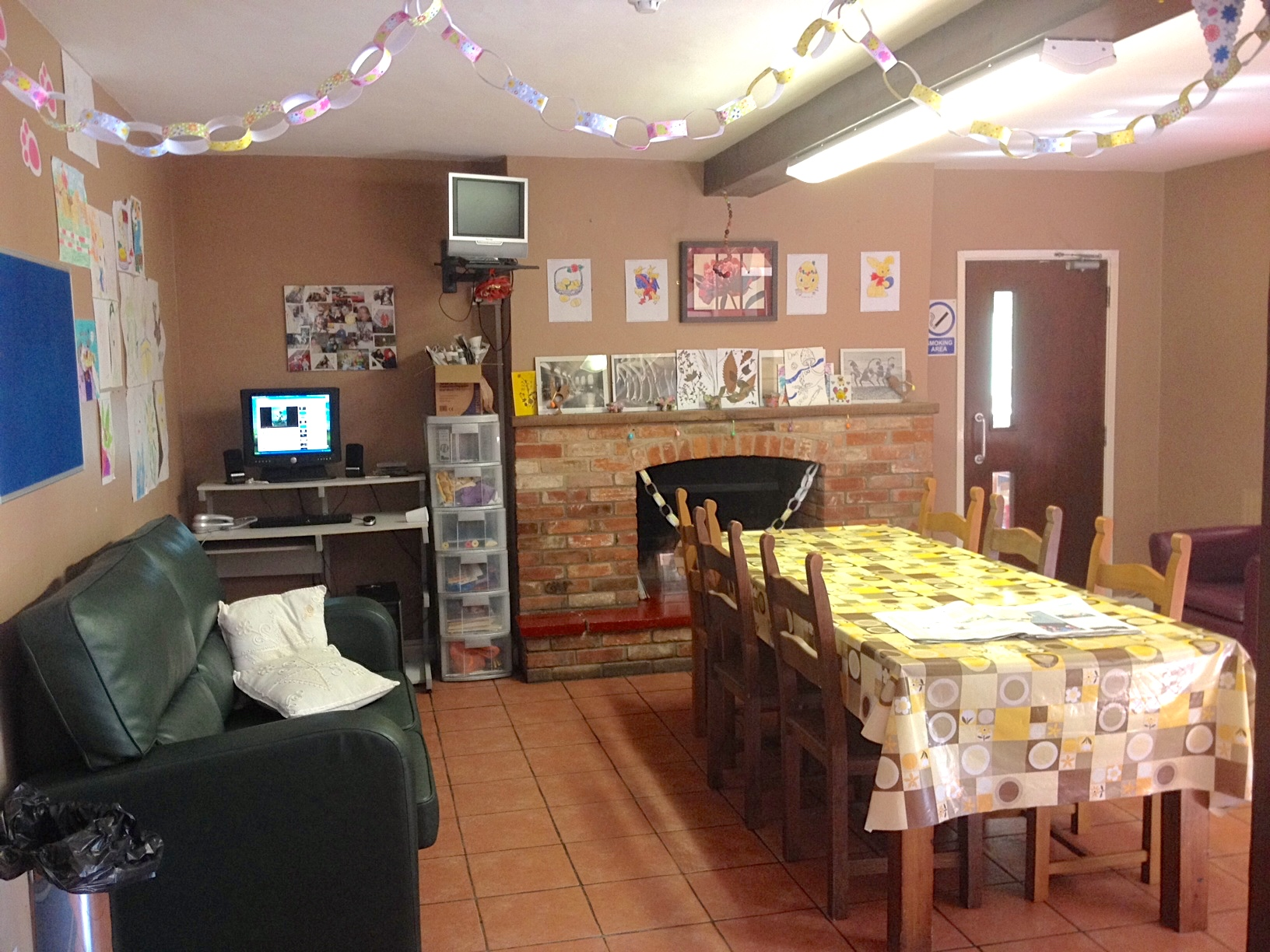 Care home activities room